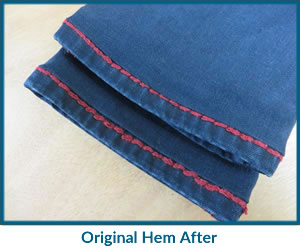 Original Hem Before